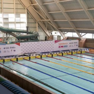 MediaCo Graphics at the Aquatic Centre - Manchester part of the Sainsbury's 2014 Games
