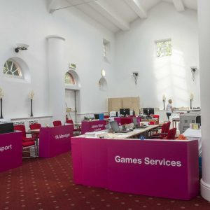 MediaCo work at Sainsbury 2014 games held accross Manchester Armitage Sports Centre
