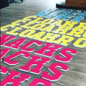 Custom Vinyl lettering - Media Co